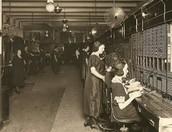 Telephone operator room