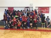 8th grade vs. Staff Volleyball