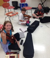 First time opening our violins!