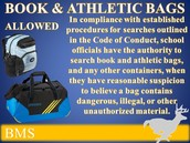 BOOK & ATHLETIC BAGS