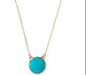 Maya Pendant, Turquoise