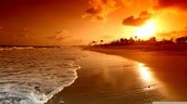 See sun rise and set at the beach