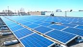 solar pannels absorbing solar energy