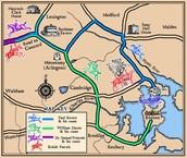 paul revere's map