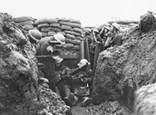 Soldiers Preparing in the Trenches