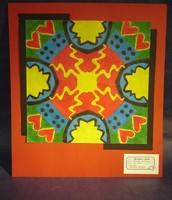Student oil pastel symmetry design