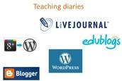 Create a teacher diary
