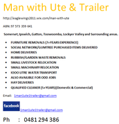 Man With Ute & Trailer