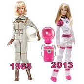 1965 & 2013 Astronaut Barbie