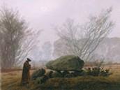 Caspar David Friedrich (1774 - 1840) A walk at dust