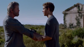 The Giver giving Jonas memory's.