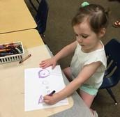 Lauren making a masterpiece.