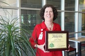 Miriam J. Gaines Leadership Award recipient Kathe Briggs