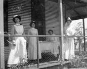 women at a hospital