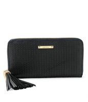 Mercer Zip Wallet - Black Weave