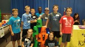 Panthers PM Cup Stacking at the Health Expo