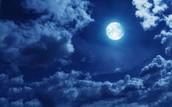 In the midnight sky