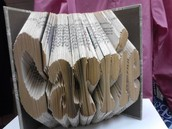 """Folded Book """"Carrie"""""""