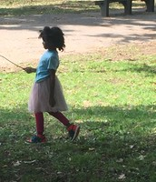 A beautiful recess in the park