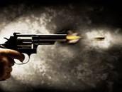 Bullet being Fired from gun