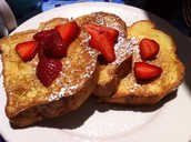 Or delicious French toast and strawberries