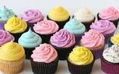 chocolate and Vanilla cupcakes