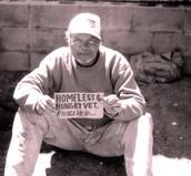 Homeless veterain