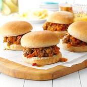 4.beef and veggie sloppy joes