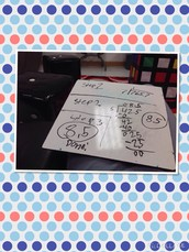 Steps to Dividing decimals