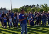Neal McCoy leads SH in the Pledge and National Anthem