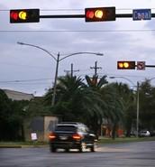 Running yellow light