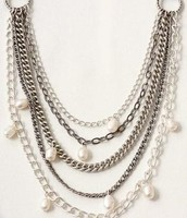 Avery Pearls and Chain necklace $40