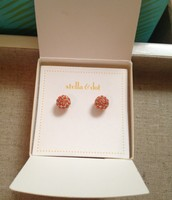 Soiree Studs in Coral $12.00
