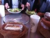 Salad and Burrito