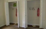 2 large closets in your master bedroom