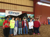 AHS Students visit the Clydesdale horses at Runnin' J Ranch