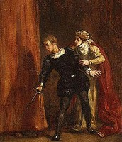 Hamlet chases after Ghost- Bernardo tries to stop him