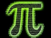 The PI symbol made of PI in number form
