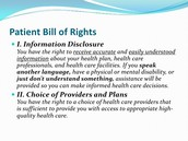 patient's bill of rights