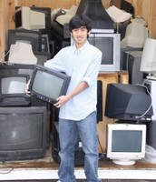 Lin's e-waste work place