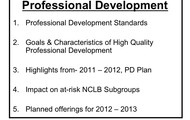 Yearly Development of Our PD Plan
