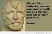 Hesiod, the author of The Theogony