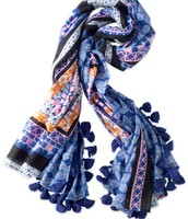 SOLD!!!!!!!!!   Capri Cotton Wrap - Moroccan Tile