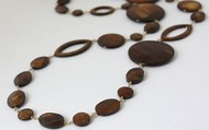 Mocha Disc Necklace