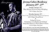 Dance Program Residency: Jeremy Cohen