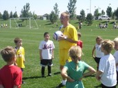 Coaches teach skills and drills in a fun way