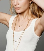 Aria Pendant Necklace (Gold/Clear  Quartz)