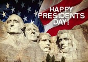 Presidents' Day - Be Here!!