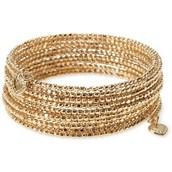 Bardot Spiral Bangle-Gold