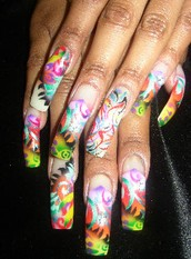Jasmine Colorful Nail Design